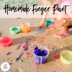Homemade finger paint for toddlers. edible ingredients from your kitchen