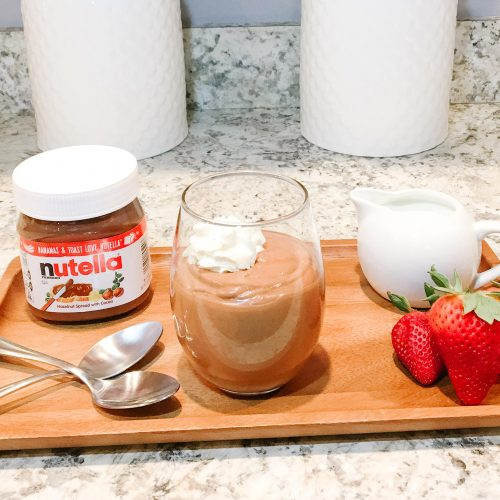 Easy Nutella Mousse dessert