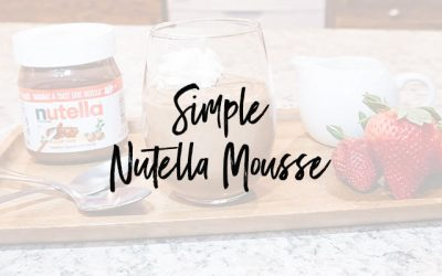 Super Simple Nutella Mousse